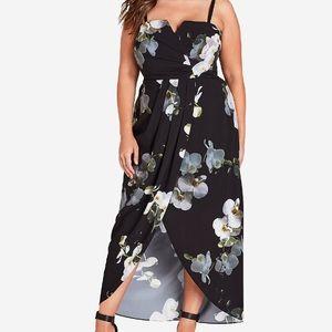 Gorgeous Black Floral Print Dress